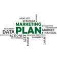word cloud - marketing plan vector image vector image