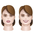 female faces vector image