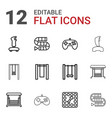 12 games icons vector image vector image