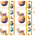A seamless template with eggs and bunnies vector image vector image