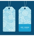 abstract swirls vertical stripe frame pattern tags vector image vector image