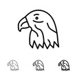 animal bird eagle usa bold and thin black line vector image