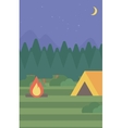 background of camping site with tent