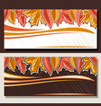banners for autumn vector image