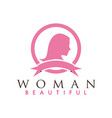 beautiful woman logo design inspiration vector image vector image