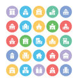 Building and Furniture Icons 1 vector image vector image