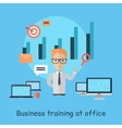 Business Training at Office Banner vector image vector image