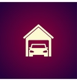 car garage Flat design style vector image vector image