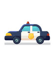 car icon stock flat police vector image vector image