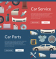 car parts web banner templates vector image vector image