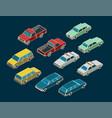 cars isometric mini set vector image vector image