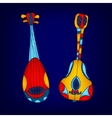 Cartoon colorful stringed musical instruments vector image