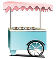 catering trolley for ice cream and drinks vector image