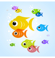 Colorful fish in blue water vector image