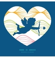 colorful horizontal ogee shooting cupid vector image
