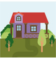 colorful natural landscape with country house vector image vector image