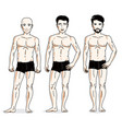 confident handsome men group standing in black vector image