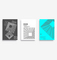 cover with geometric minimal design for banner vector image vector image