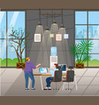 coworking environment people at office vector image