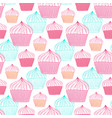 cupcakes seamless pattern sweets background for vector image vector image