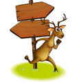 Deer Arrow board vector image vector image