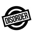 disorder rubber stamp vector image vector image