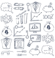 Doodle of business collection vector image