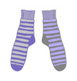 doodle pair colored socks for design vector image vector image