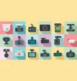 dvr icons set flat style vector image vector image