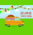 festival of street food background flat style vector image