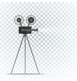 film projector flat design vector image