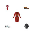 flat icon clothes set of male footware clothes vector image vector image