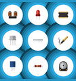 flat icon technology set of coil copper recipient vector image vector image