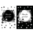 floral greeting card design rectangular with black vector image vector image