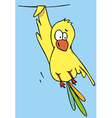 funny bird cartoon vector image