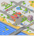 gas station in city map isometric 3d vector image vector image