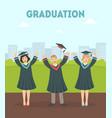 graduation banner template happy graduate vector image