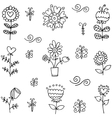 Hand draw of spring item doodles vector image vector image