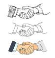 handshake - vector image vector image