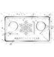 happy new year 2019 silver numbers with ribbons vector image