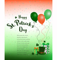 happy st patricks daycolorful background with vector image vector image