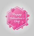 happy valentines day banner design vector image