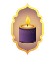 indian candle decoration vector image vector image