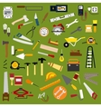 Industrial hand tools and equipment flat icons vector image vector image