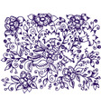 ink floral design vector image