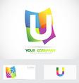 Letter U colored logo vector image vector image