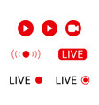 live stream logo vector image vector image