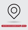 location icon in modern style for web site and vector image vector image