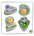 logo billiards ball vector image