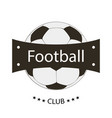 logo emblem of football club stylish vector image vector image